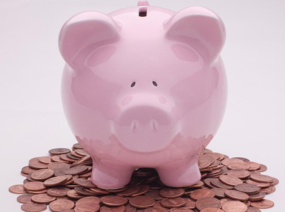 Piggy Bank On Pennies