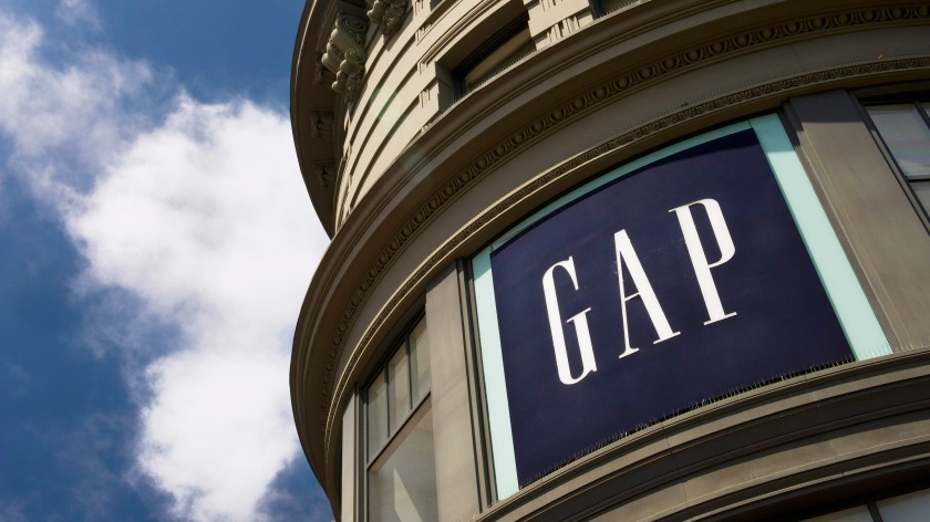 Gap Inc. signage is displayed in front of a store in San Francisco, California, U.S., on Tuesday, May 15, 2012. The Gap Inc. is scheduled to release first-quarter 2013 earnings on May 17. Photographer: David Paul Morris/Bloomberg via Getty Images